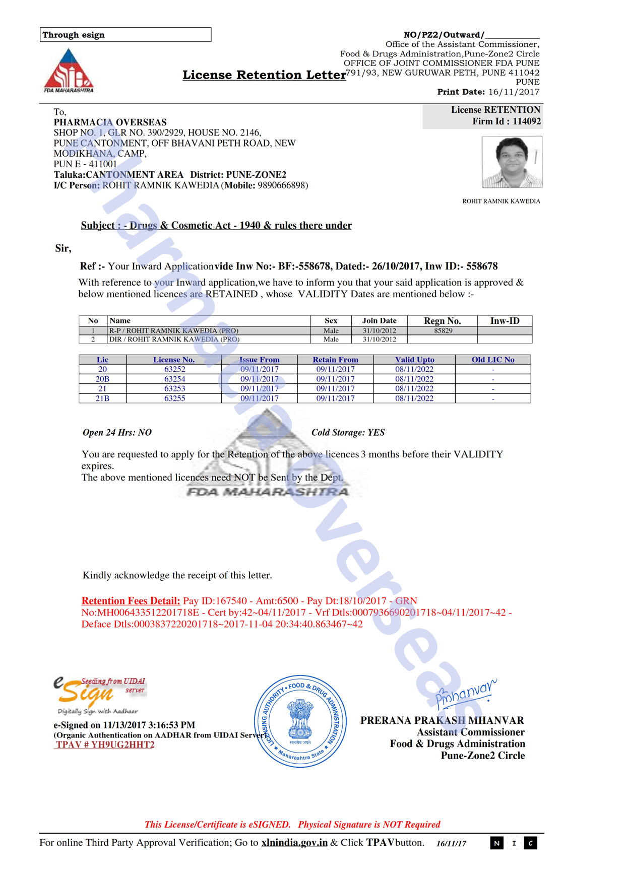 Pharmacia overseas certificates licenses thecheapjerseys Image collections